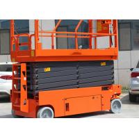 Quality Folding Rails Electric Aerial Work Platform 11.8m Steel Lifting Platforms Equipment wholesale