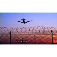 China Low Carbon Steel Airport Security Fence Y Post 12/14 Gauge Barbed Wire Multi Size on sale