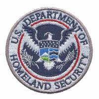 Quality Custom Embroidery patch Emblem U.S. Department of Homeland Security Eagle WDT11201  wholesale