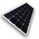 Lightweight RV Flexible Solar Panels , 18V 12V Monocrystalline Solar Panel