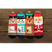 Quality Fancy cartoon christmas patterned design winter cotton socks for women wholesale