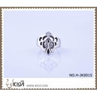 Buy cheap A unique design 9# / 2.22cm / 11.7g 316l stainless steel ring H-JK0015 from wholesalers