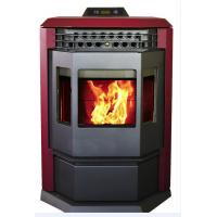 Cheap Energy Saving Pellet Burning Fireplace , High Efficiency Pellet Stove Without Chimney for sale