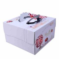 Cheap Square Birthday Cake Custom Packaging Boxes Food Grade Lvory Paper 400gsm - 800gsm for sale