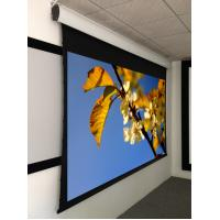 """Quality 92"""" projection screen , tab tensioned motorized projection screen aluminum housing wholesale"""