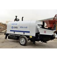 China Elba Diesel Trailer Concrete Pump , High Efficiency Cement Grouting Pump on sale