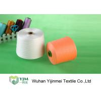 Cheap Bright Color Polyester Core Spun Yarn / Raw White Sewing Thread Low Shrinkage for sale
