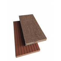 China 3D Embossing SGS 140mm X 25mm Solid Composite Deck Flooring on sale