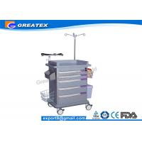 China ISO Quality 5 Drawers Emergency Medical Trolley crash cart utility trolley on sale