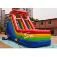 Quality Colorful Outdoor Kids Biservice Wet N dry Commercial Inflatable Slides For commercial used wholesale