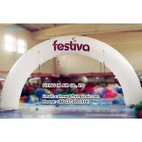Quality 10m Outdoor Printing Inflatable Arch with Logo For Business Show for sale