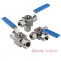 China Stainless steel three way ball valve on sale