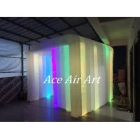 Quality 3mL*3mW*2.5mH Colorful Led Inflatable Photo Booth Cube tent/Inflatable Cabin for Sale add fun to your event wholesale
