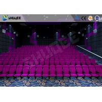 Quality Sound Vibration Cinema 3D Movie Theater System With Shock Effects Seats wholesale