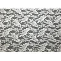 Quality Off White Leaf Shape Nylon Lace Fabric Durable Washable For Garment Apparel wholesale