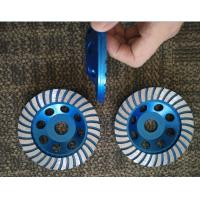 Quality 5inch 125mm Turbo Cup Wheel , 5 Diamond Grinding Disc For Concrete wholesale