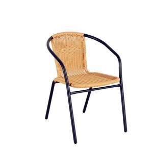 Quality Skilled Weaving Pattern H73cm W53cm Rattan Garden Chairs Elegant Design wholesale