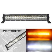 Quality Fast Delivery!120w Color Changing Flashing Amber Warming 24inch Led light bar Truck wholesale