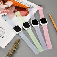 Quality Promotional Gift Square Silicone Watch Colorful Rubber Wristband For Unisex wholesale