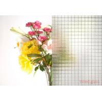 Quality 6mm , 6.5mm , 7mm Clear Wire Reinforced Glass , wire mesh safety glass security wholesale