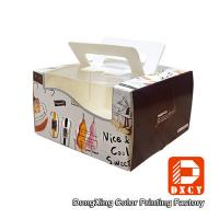 Quality Glossy Varnishing 8 Inch Cake Packaging Boxes , Open Window Personalised Cake Boxes wholesale