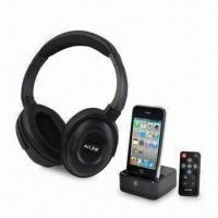 Quality Stereo Wireless Headphones for iPod, Docking Transmitter and Remote Control wholesale