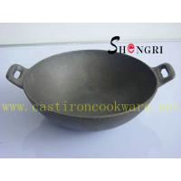 Cheap cast iron&enamel wok for sale