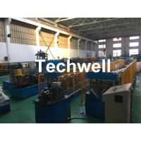Quality Steel Galvanized Ridge Cap Roll Forming Machine With Hydraulic Cutting For Making Roof Panels wholesale