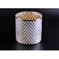 Quality Create Diamond Shining Votive Glass Candle Holder With Woven Pattern wholesale