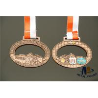 Quality Durable Small Metal Medallions Antique Copper Plated Medailles Oval Shape wholesale