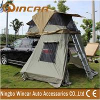 Quality 4x4 Waterproof Car roof top campers , 260G Ripstop Canvas Auto Roof Tent wholesale