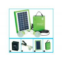 China Normal Portable Solar Panel Charger With 5w Solar PV Modules And One Battery 2 Bulbs on sale