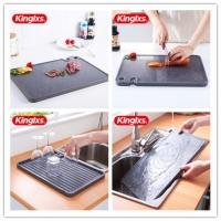 China New Creative Cutting Board Kitchen Chopping Board Can Be Used To Sharpen The Knife And Grind Garlic Double-Sided on sale