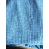 Quality Microfiber Factory Blue Weft Big Grid Car Cleaning Cloth 1.5m Width 320gsm Density wholesale