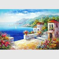 Quality Hand - painted Impressionism Mediterranean Oil Painting Vacation Harbor wholesale