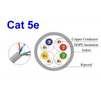 Quality Cat5E UTP Copper Network Lan Cable Conductor 24AWG Indoor 0.505mm Environmental Protection wholesale