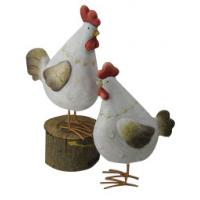 Quality S017TC Unique Rooster Animal Garden Ornaments Weather Resistant wholesale