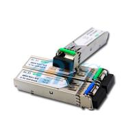 China BiDi SFP Fiber Optic Transceiver Package With LC / SC Connector on sale