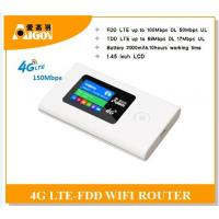 Quality Wifi sharing portable 4g wireless 4g router with 2000mAH wholesale