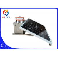 Quality AH-MS/A Medium intensity Solar powered LED obstacle light/LED solar air obstruction light for building/GSM tower/windtur wholesale