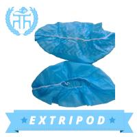 Quality china supplier Medical Blue waterproof disposable rain shoe cover wholesale