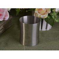Quality 23 Oz Silver round metal candle holder bulk with Lid , customized shapes wholesale
