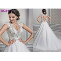 Quality Shaped Princess Style Wedding Dresses / Beads Decoration Princess Ball Gowns wholesale