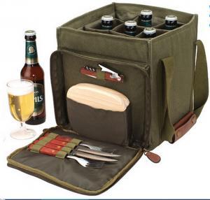 China canvas beer bottle cooler bag,wine bottle bag on sale