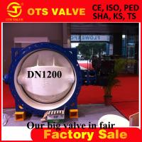 Cheap double flange double eccentric butterfly valve DN1800 for sale