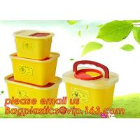 Quality Square sharps container, medical disposal bins, needle container, Disposable Hospital Biohazard Sharp Collector Waste Bi wholesale
