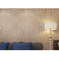 Buy cheap Non - woven Fashion Living Room Wallpaper / LOVE English Letter Wallpaper from wholesalers