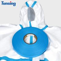China PE Layer Heat Sealing Tape Blue Color 20mm Width For Medical Protective Clothing on sale