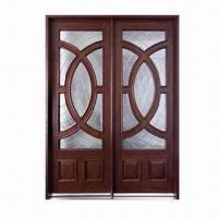 Quality Solid wood exterior doors with side light, frame, architraves and glass wholesale