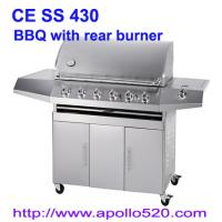 Quality Gas Barbeque with ceramic back burner wholesale